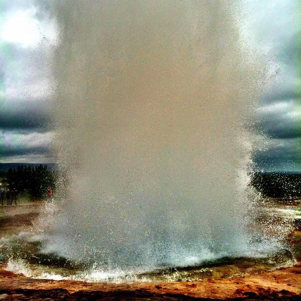 Geysir explosion!