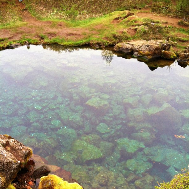 Turquoise waters of Thingvellir National Park and home to one of the world's first parliamentary systems.