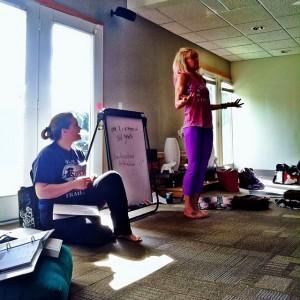 Yoga teacher training, hours 60-80. #ObeyThePinkLady