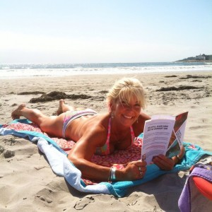 """Reader photo! It's @yogadebbie reading her copy of """"Big Apple, Black Sand and the Midnight Sun."""" Take a pic and tag me! #BABSMS #books #rhodeisland"""