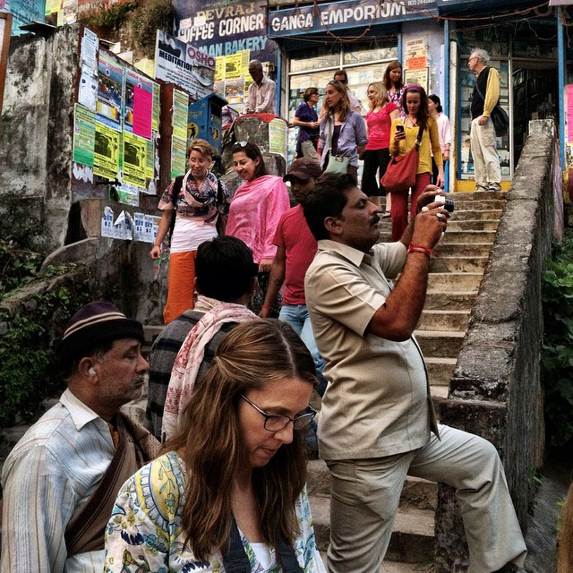 Touring through Rishikesh, India on our first afternoon of the retreat/immersion! Jai! #engagesurrendertransform