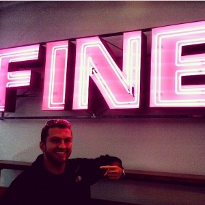 Flattered that they erected a neon sign for me!