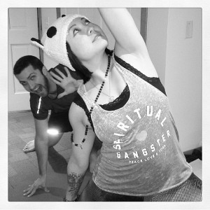 Practiced ma photobombing this weekend during teacher training. #namaste
